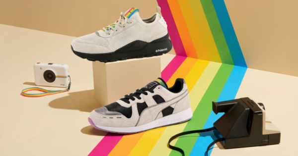 Des sneakers Puma aux couleurs de Polaroid CD MENTIEL MAGAZINE